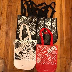 (6) NEW Lululemon bags